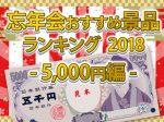 忘年会おすすめ景品ランキング2018 ~ 5000円編 ~