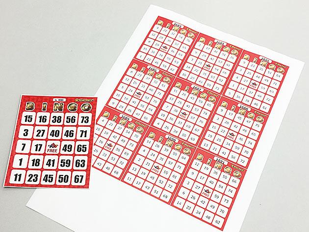 ゲットクラブ ビンゴカード 無料印刷