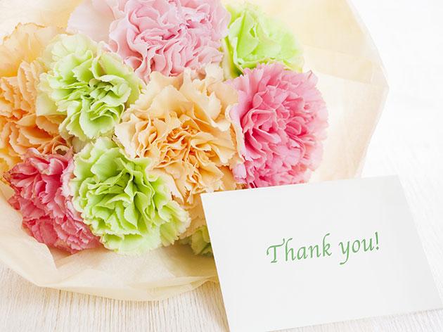 花束&メッセージカード