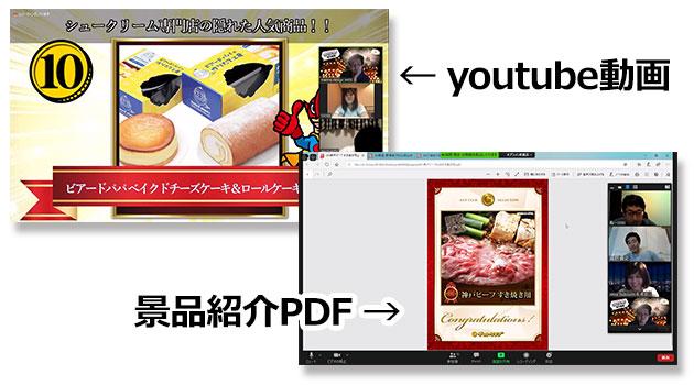 景品紹介PDF&youtube動画