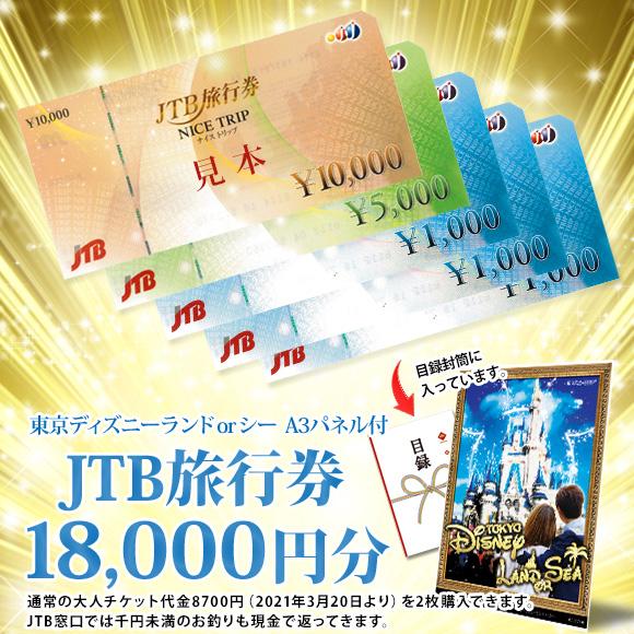 JTB旅行券で行こう!東京ディズニーランドorシー