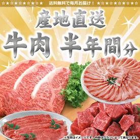 牛肉産地直送半年間分【目録引換券】
