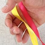 バス旅行・車中ゲーム 紙テープで繋がるロープウェイ